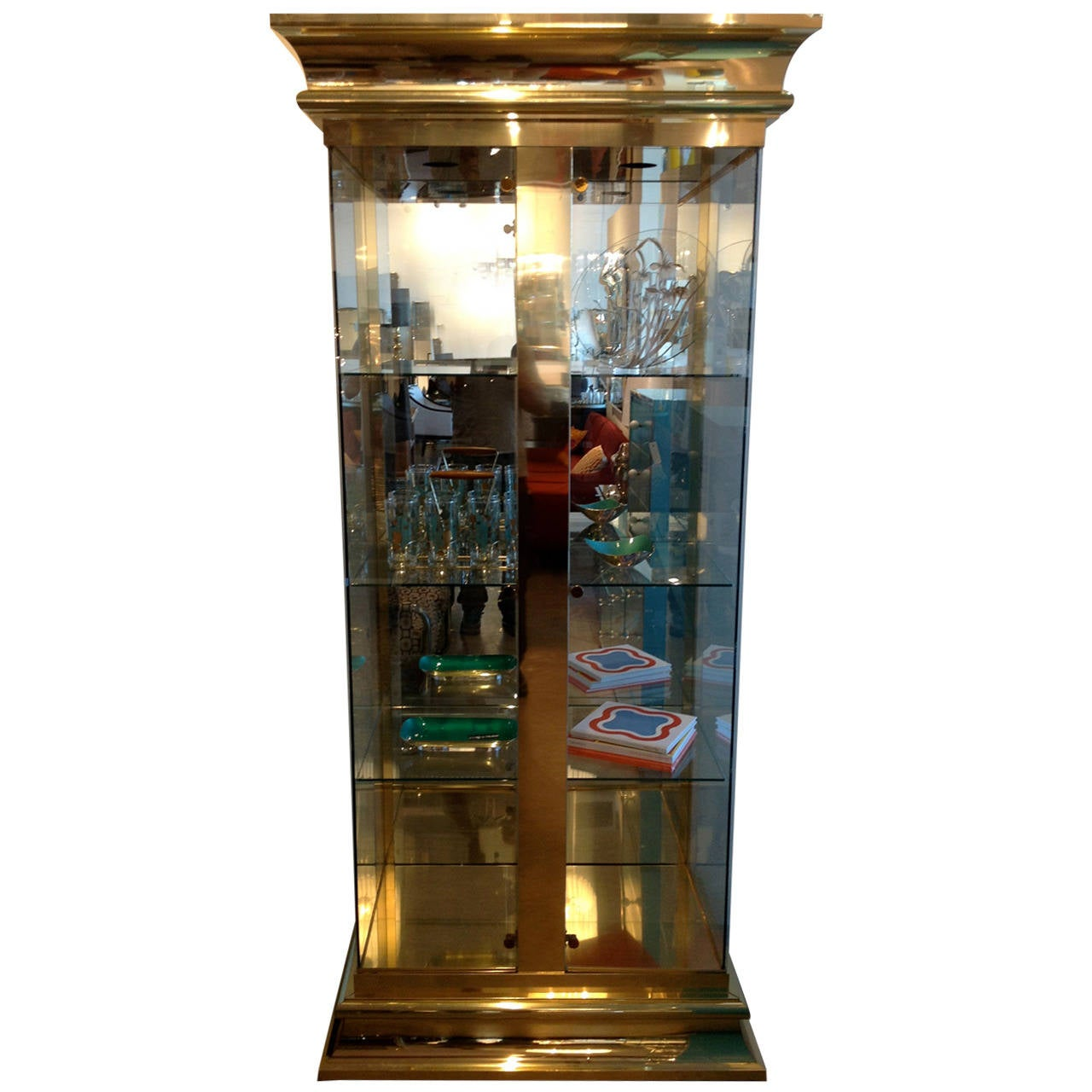 #62411C Mastercraft Brass And Glass Display Cabinet At 1stdibs with 1280x1280 px of Best Glass Display Cabinet Puchong 12801280 image @ avoidforclosure.info