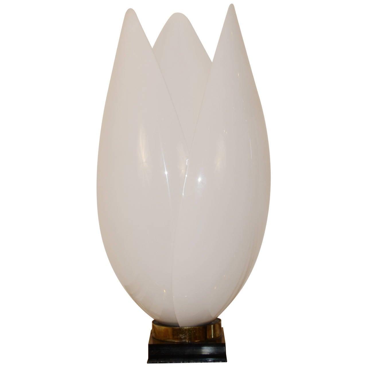 motion tulip ottlite watt flip lamp open silver