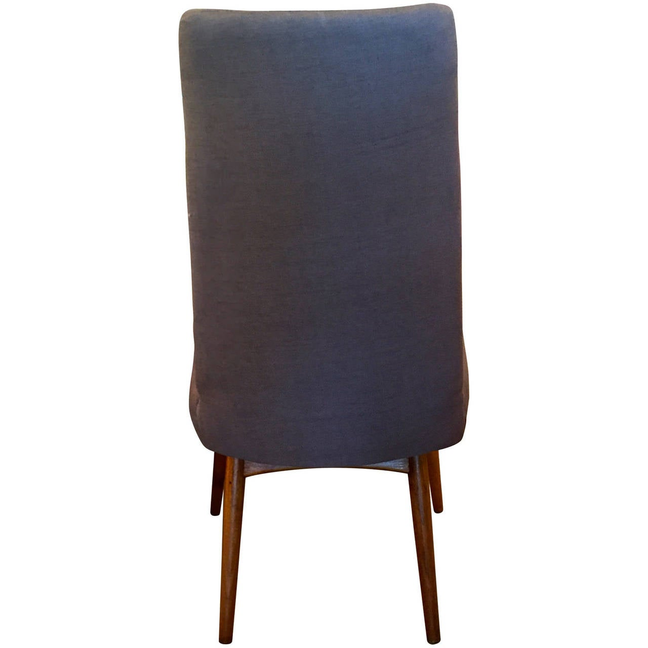 Machine-Made Mid Century Modern Adrian Pearsall S/6 Rosewood & Linen Dining Chairs For Sale