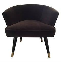 Parisian Mohair Velvet Armchair