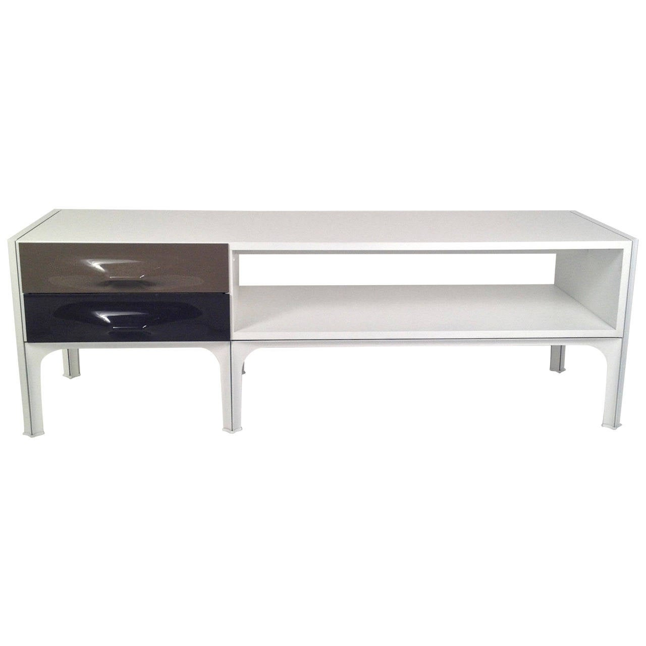 Raymond Loewy Free Standing Low Two Sided Cabinet/ Coffee Table ...