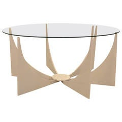 Mid Century Modern Powder Coated Low Table in Donald Drumm Style