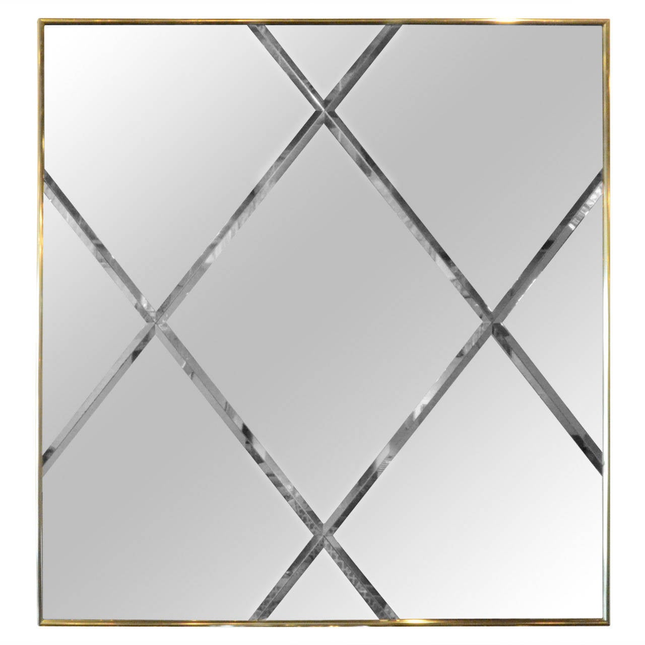 Mirror patterns wall