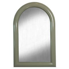 Mid-Century Modern Lacquered Arch-Top Mirror Pierre Cardin Style