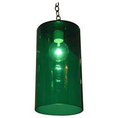 Mid-Century Modern Emerald Green Murano Glass Lighting Pendant