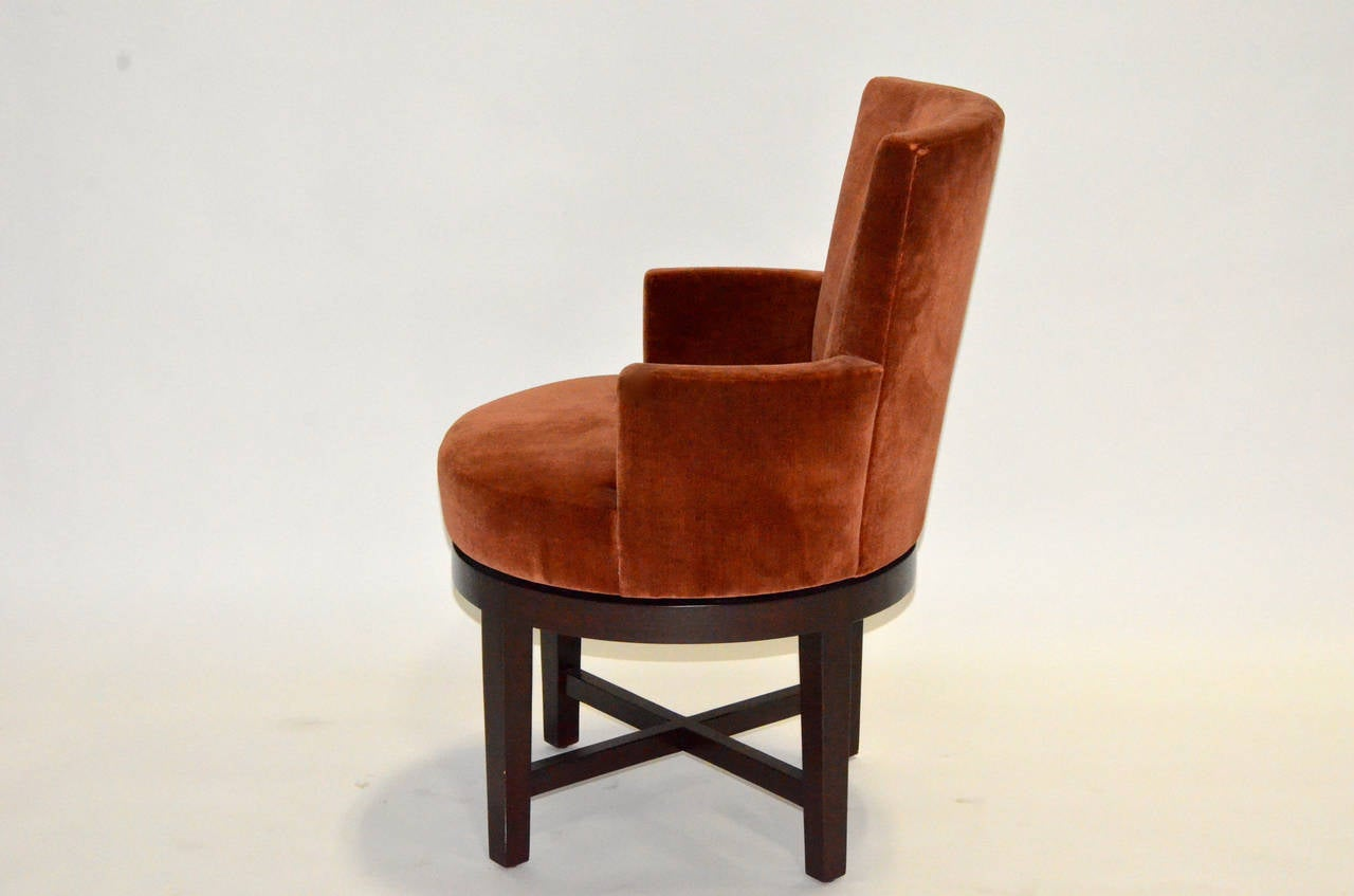 Pair Of A Rudin Swivel Armchairs At 1stdibs