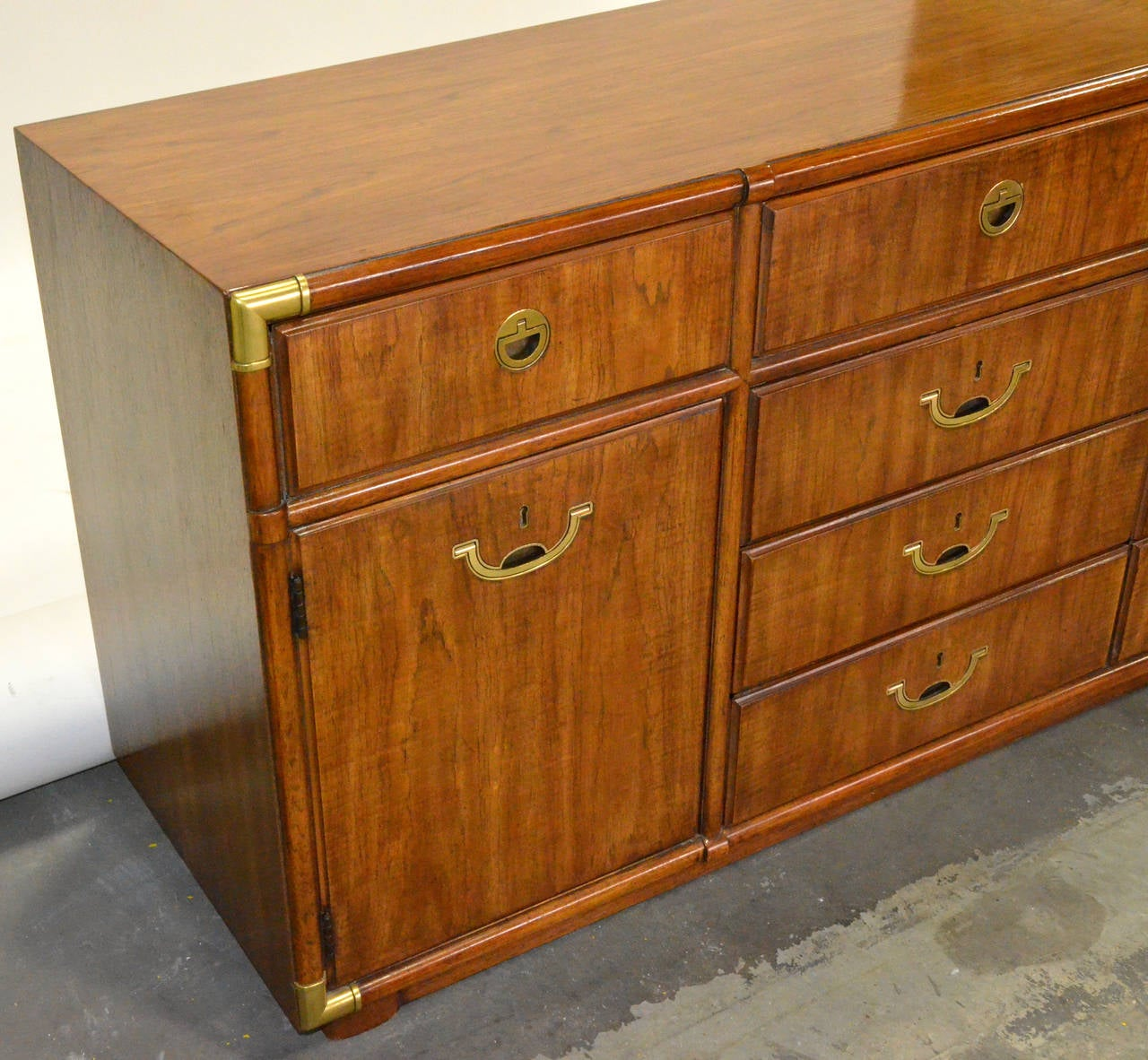 Drexel Heritage Campaign Dresser or Credenza For Sale at 1stdibs