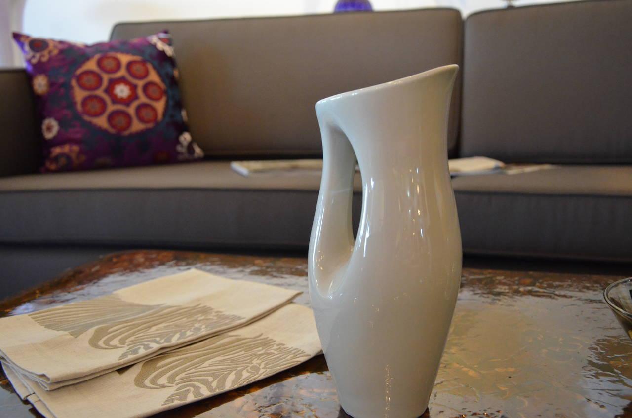 Vintage R 248 Rstrand Glazed Pottery Pitcher At 1stdibs