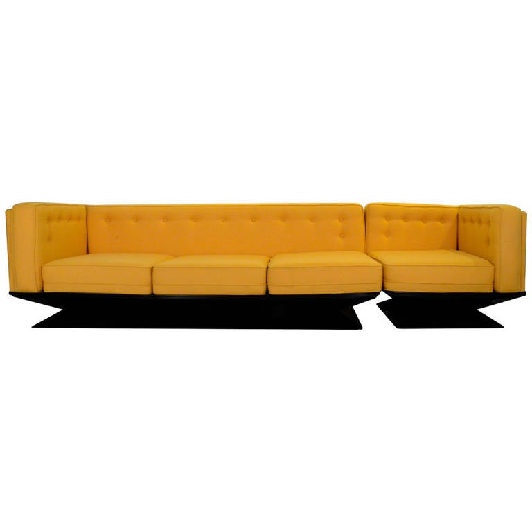 Mid Century Modern MIM Roma Refurbished Sectional Sofa by Luigi Pellegri
