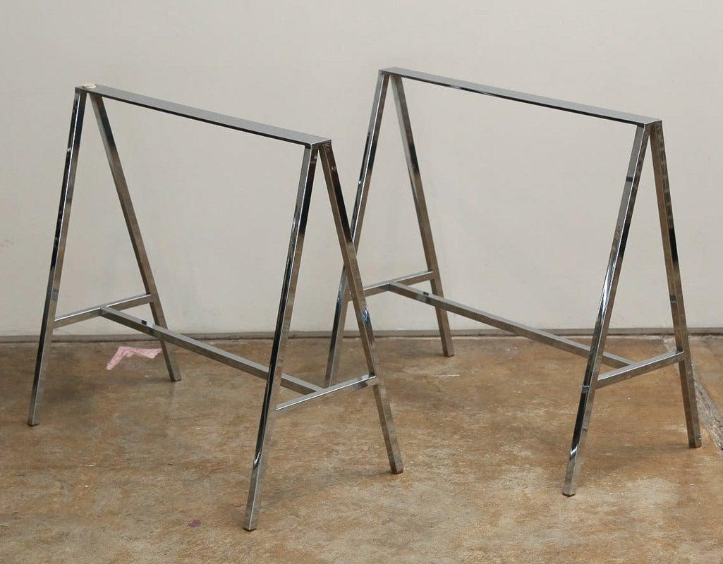 Chrome Sawhorse Desk Legs Hostgarcia