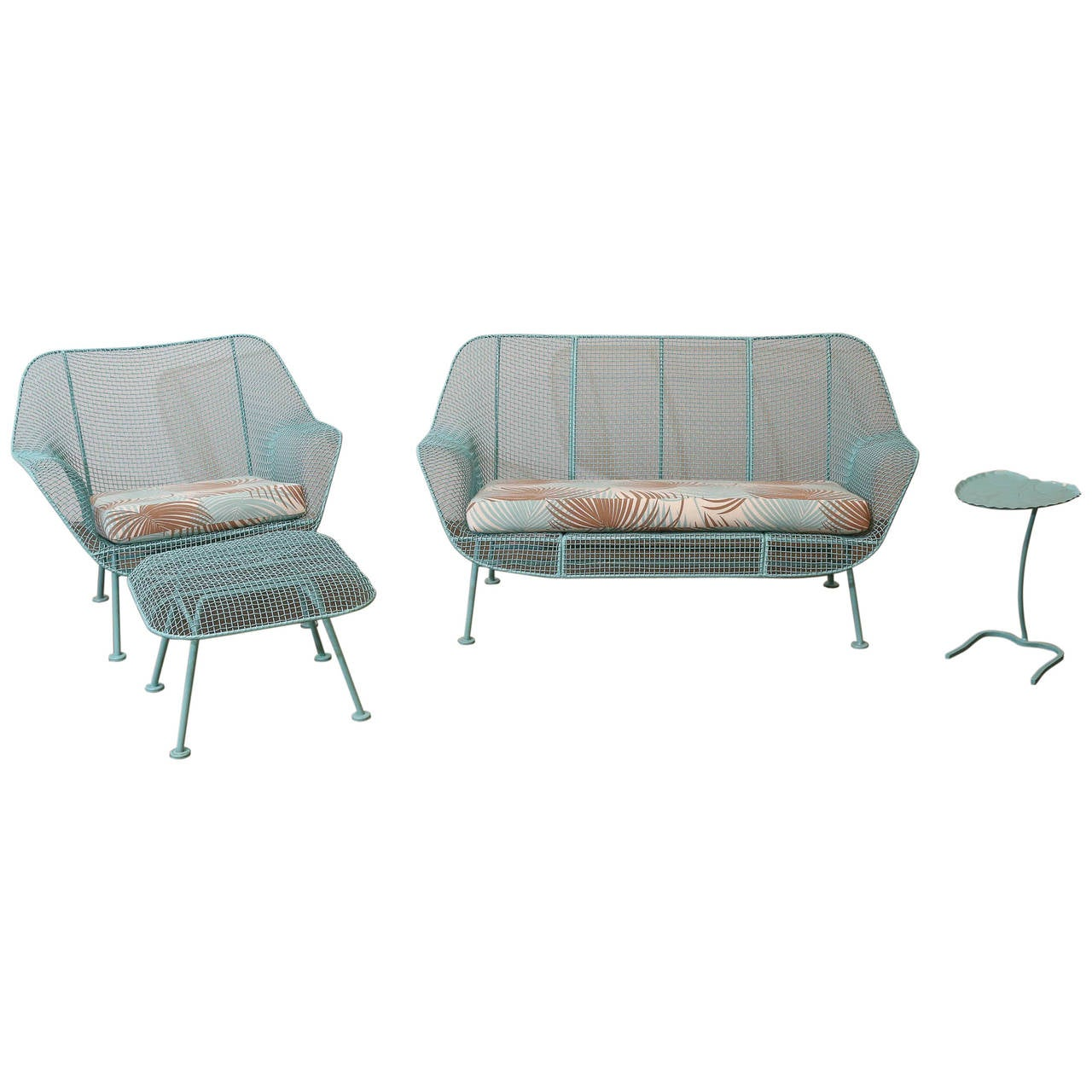 Russell woodard newly refinished in tiffany blue patio set for Woodard patio furniture
