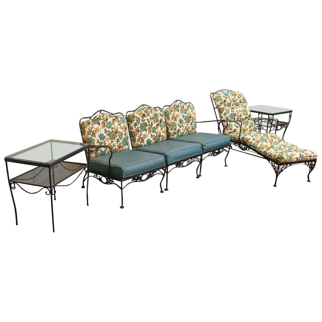 Mid-Century Modern Hollywood Glam Woodard Patio or Garden Set/9