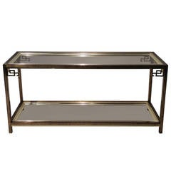 Mastercraft Greek Key Console Table