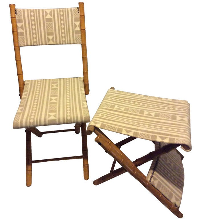 Folding Campaign chairs For Sale at 1stdibs