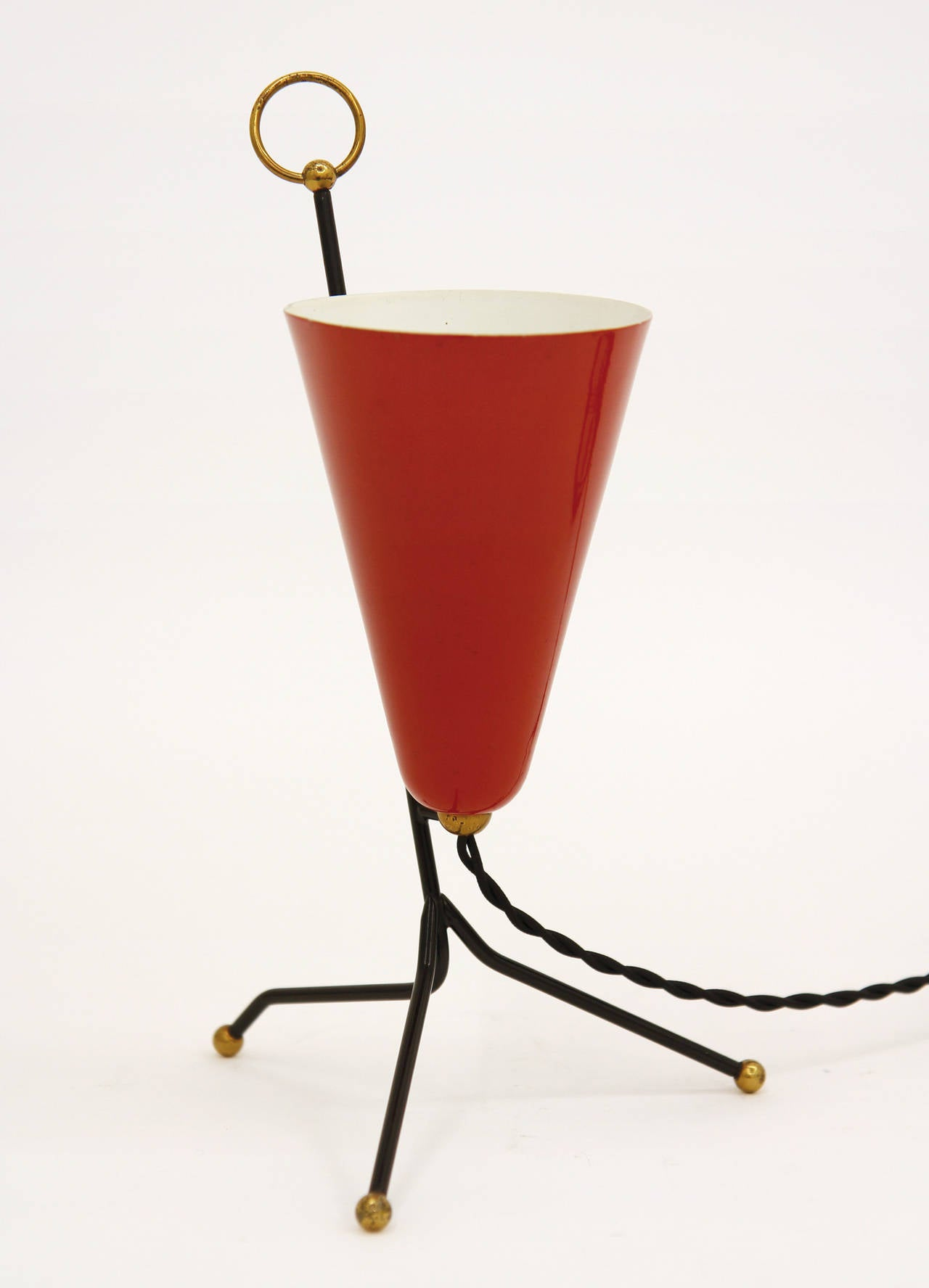 fifties hair styles 1950s italian tripod table and wall light for at 1stdibs 6633