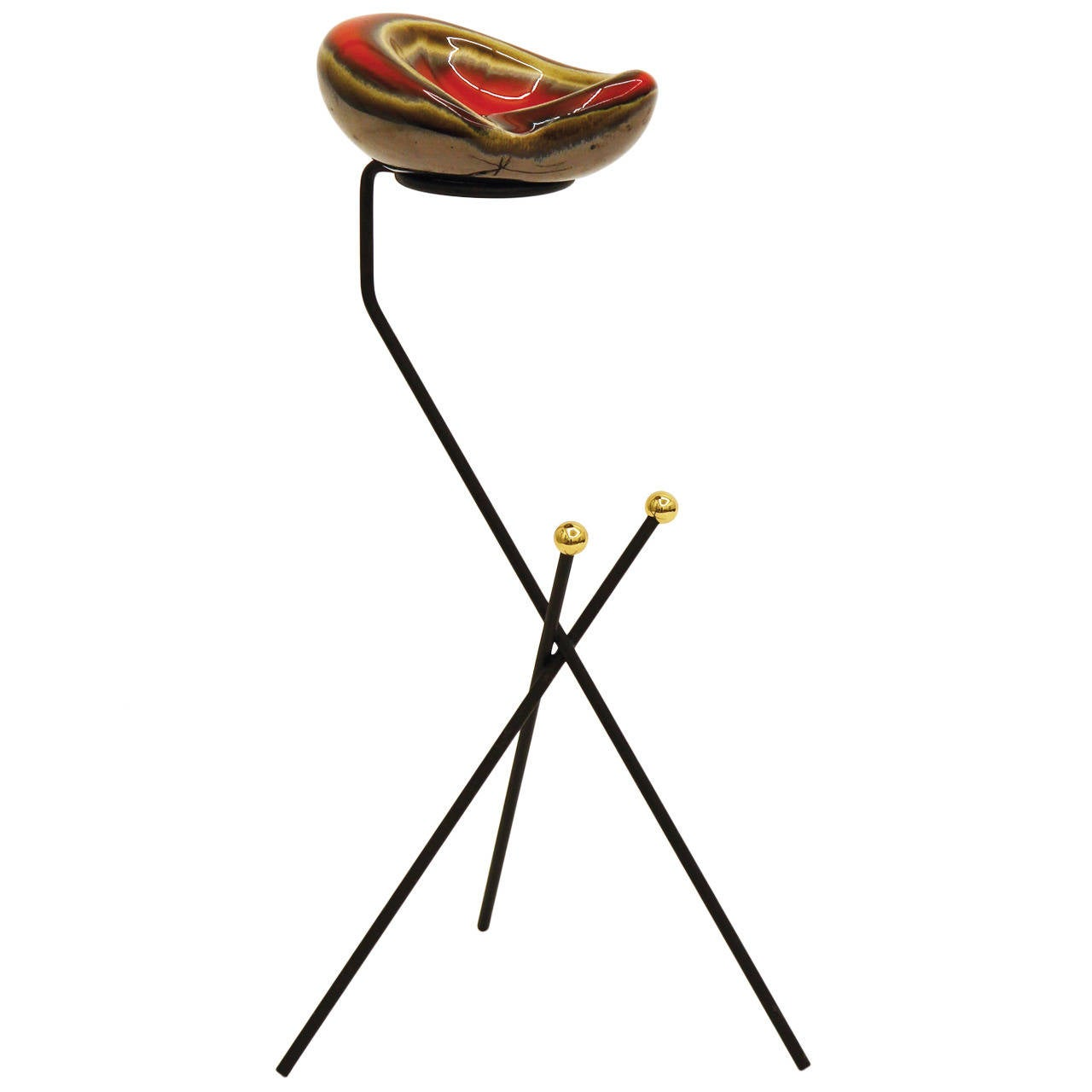 French Modernist Tripod Ashtray or Catch-All, 1950s