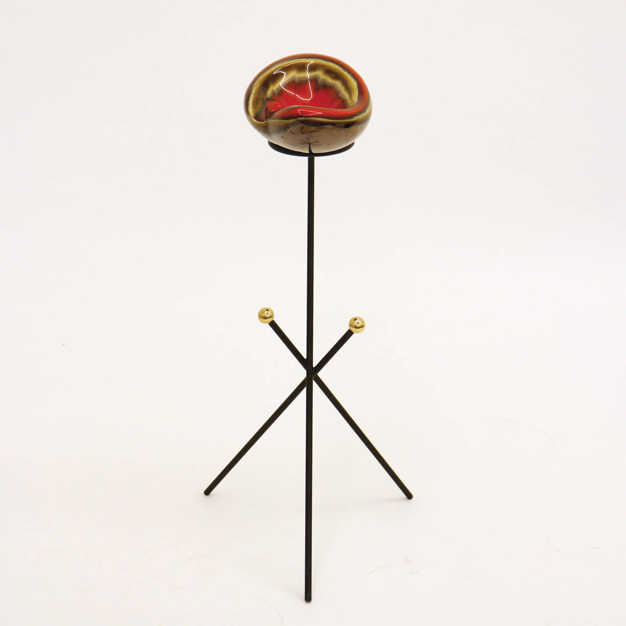 Mid-Century Modern French Modernist Tripod Ashtray or Catch-All, 1950s For Sale