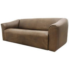 De Sede Three-Seat Leather Sofa DS 47
