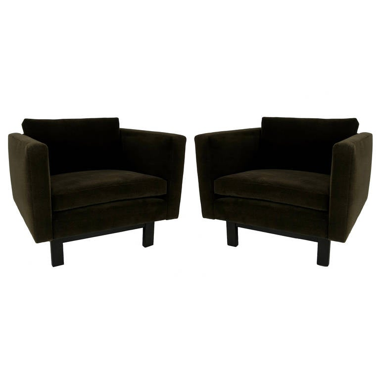 Pair of Harvey Probber Open-Frame Lounge Chairs For Sale