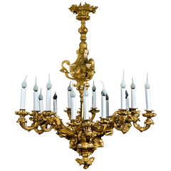 Superb Antique French, Louis XVI Style Gilt Bronze Figural Chandelier