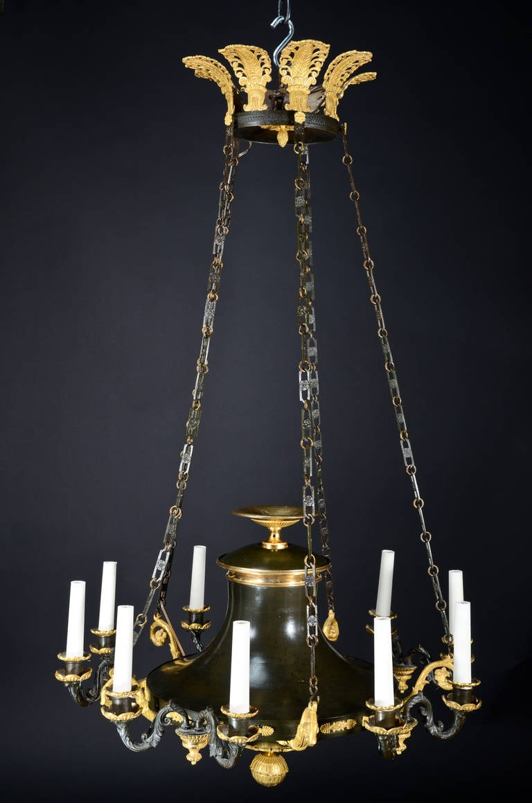 Antique French Empire Style, Neoclassical Chandelier For ...