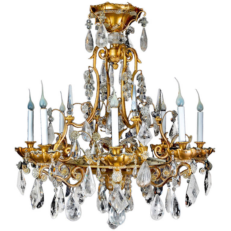 Magnificent antique french bagues gilt bronze and rock crystal magnificent antique french bagues gilt bronze and rock crystal chandelier for sale aloadofball Image collections