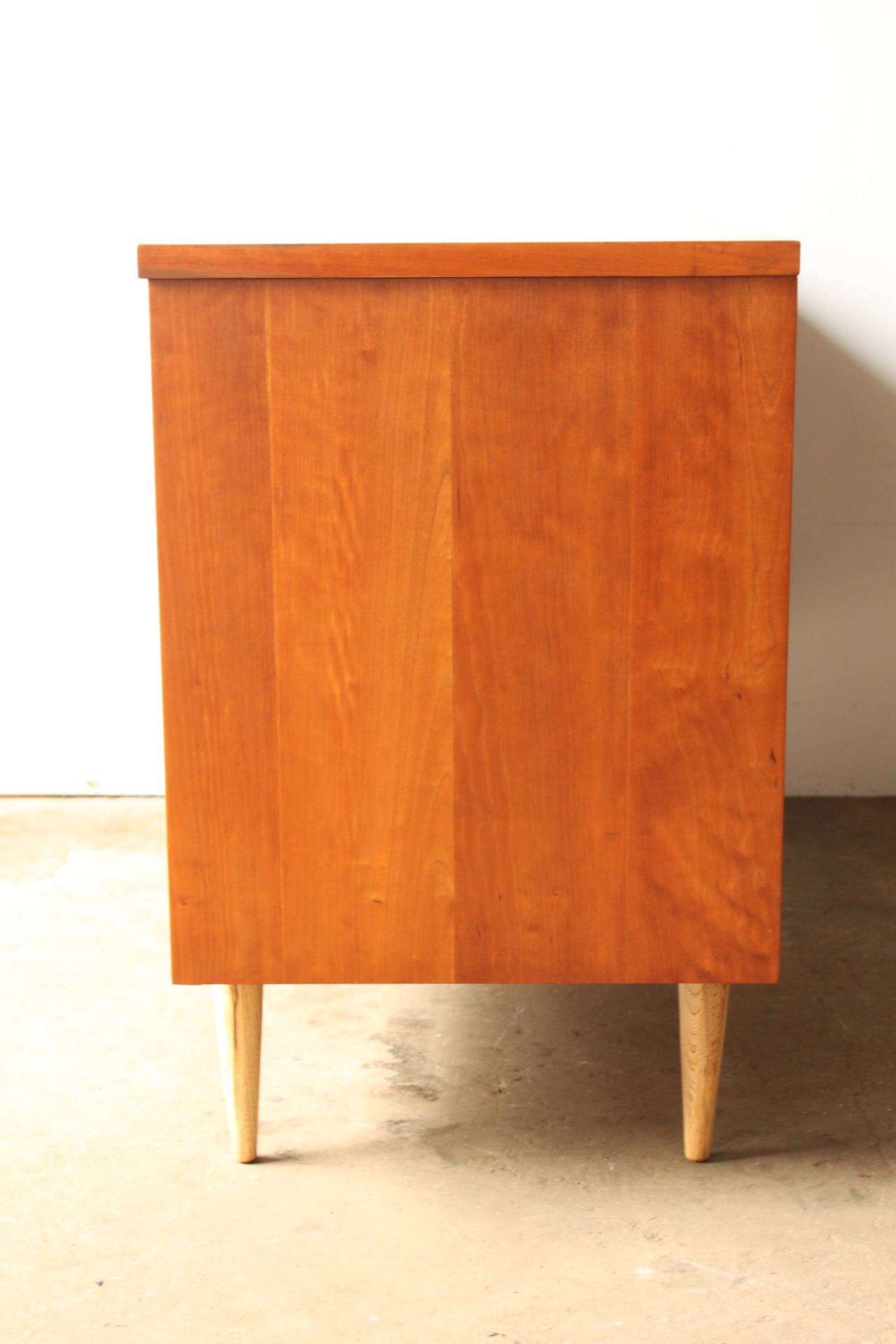 this mid century american cherry credenza by bassett is no longer
