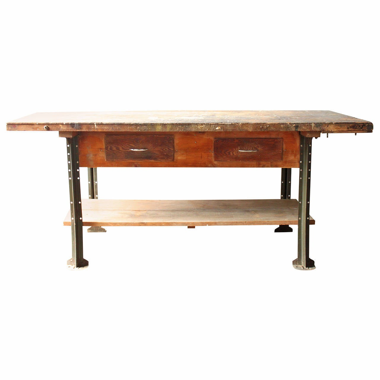 Industrial Factory Work Table At 1stdibs