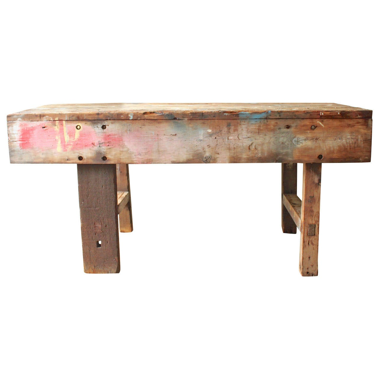 Primitive handmade work bench at 1stdibs for Furniture work table