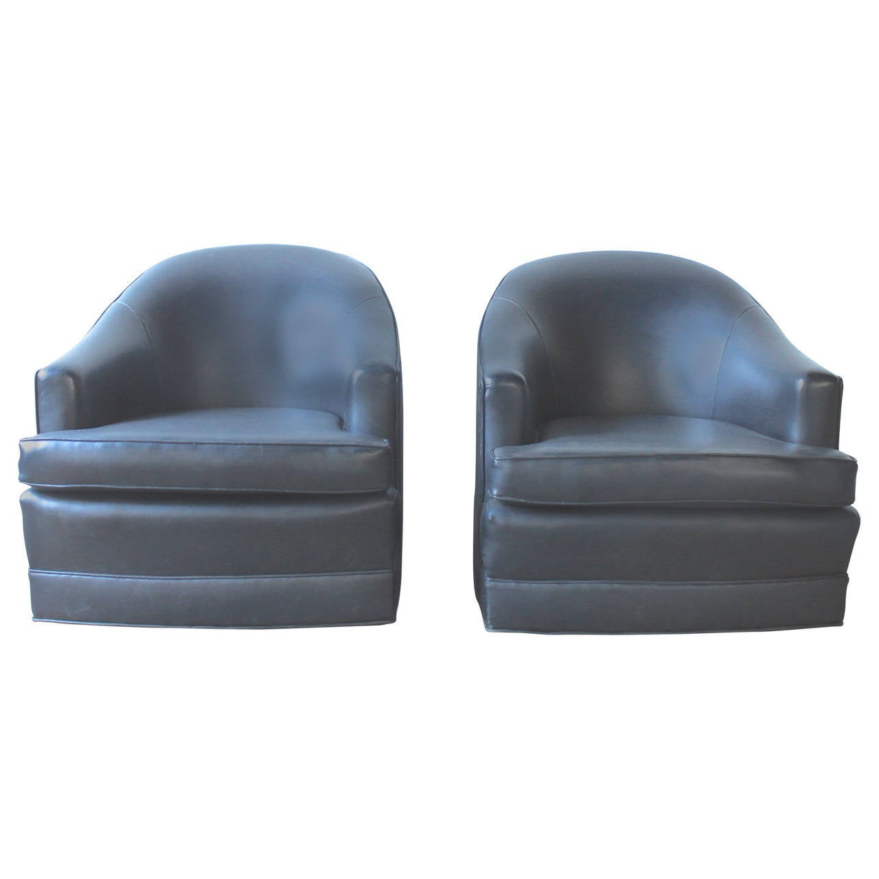 Mid Century Swivel Club Chairs At 1stdibs