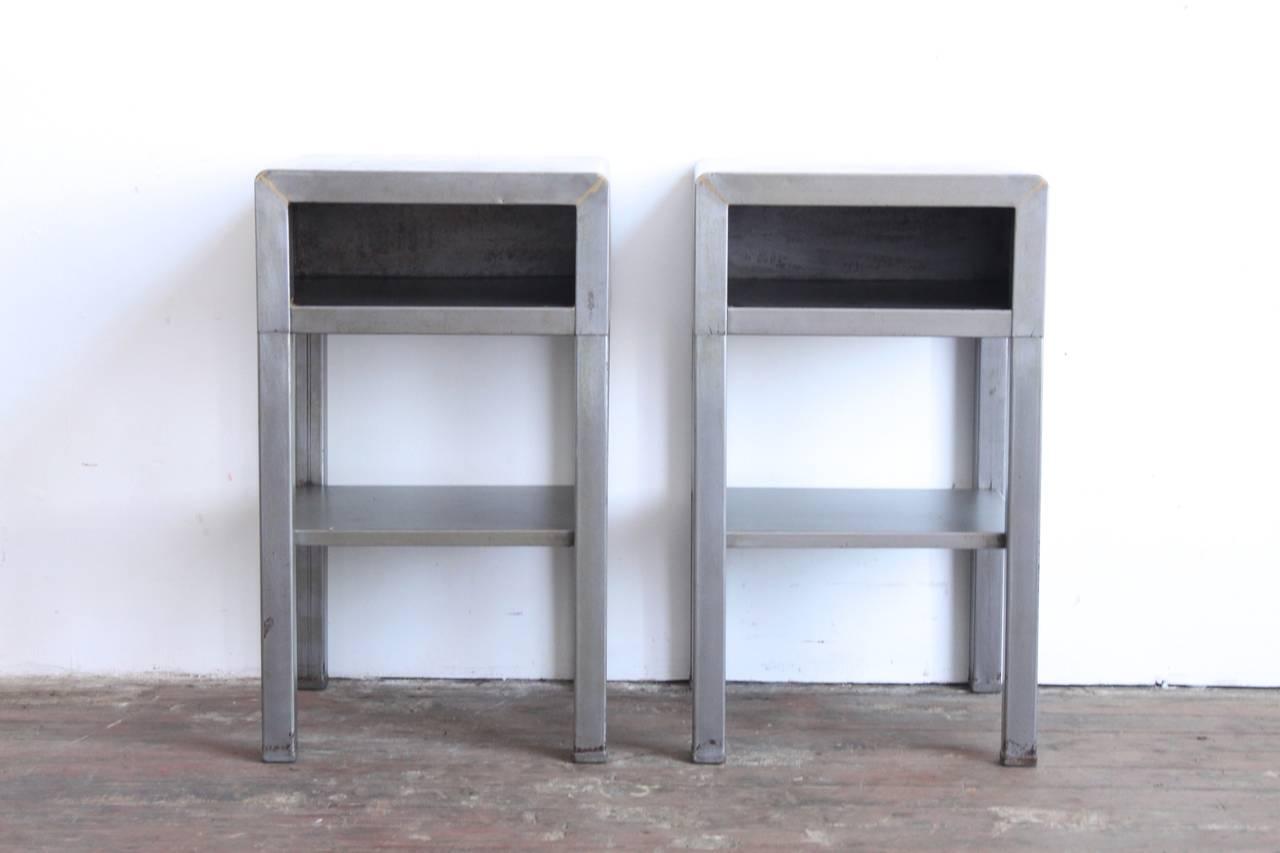 Industrial Wood And Metal Nightstand: Industrial Metal Nightstands At 1stdibs