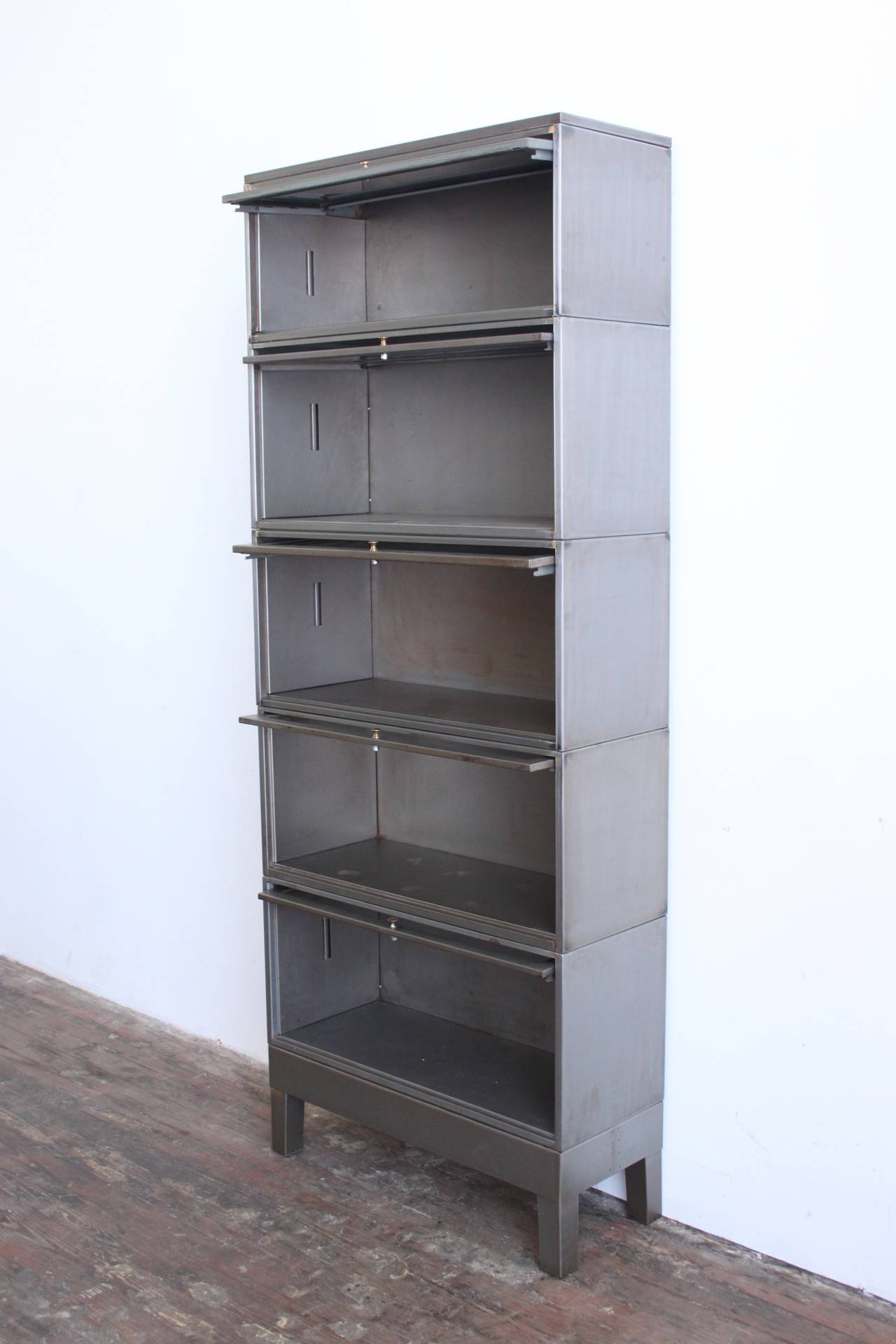 Industrial Barrister Bookcase 4