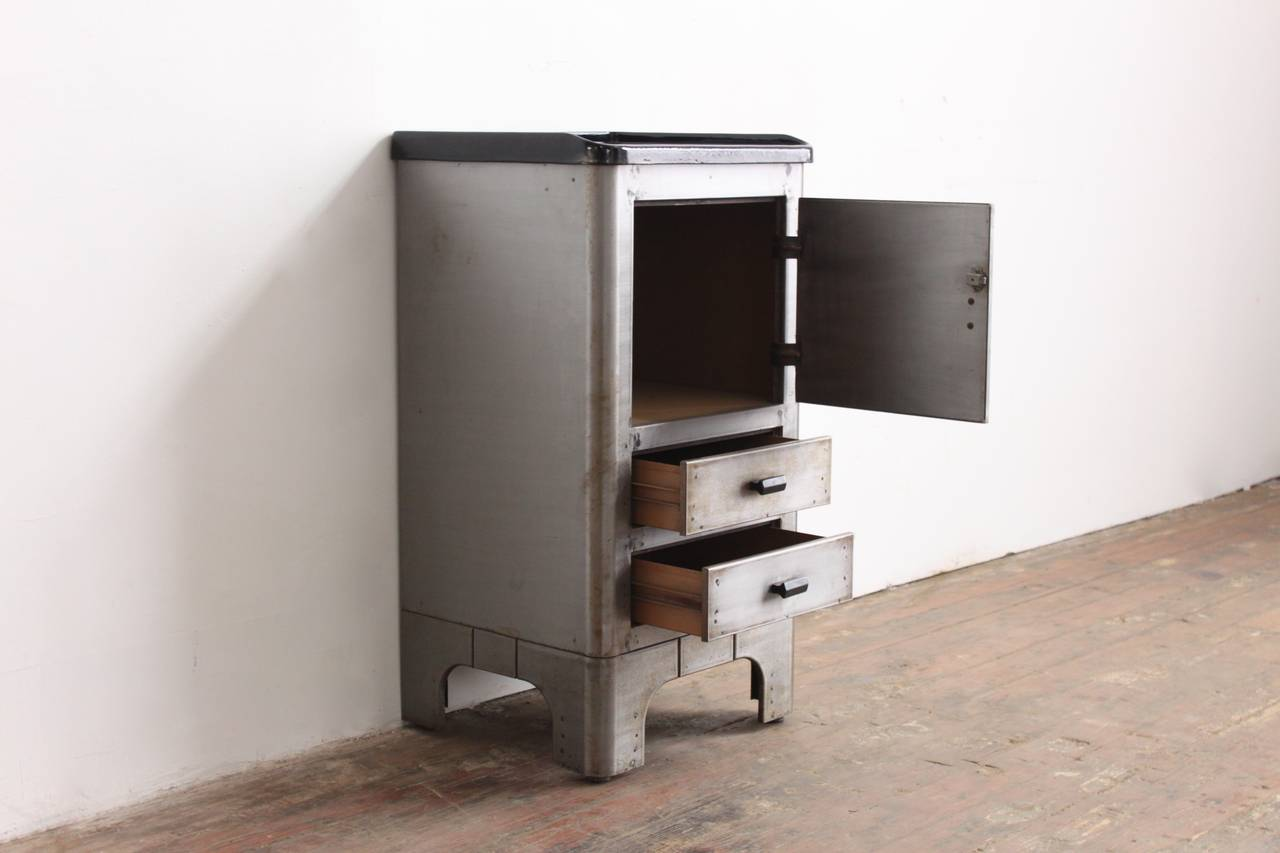 Metal nightstand affordable simple living piazza end for Affordable nightstands