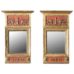 Pair of 19th Century Swedish Empire Mirrors