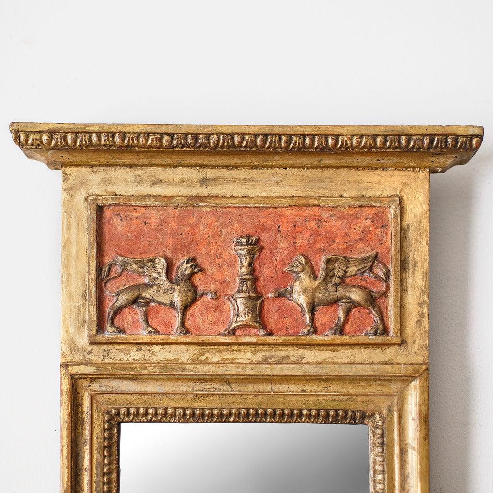 Gilt Pair of 19th Century Swedish Empire Mirrors