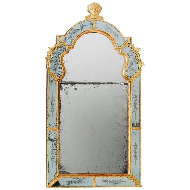 18th century swedish baroque mirror burchard precht for for Small baroque mirror