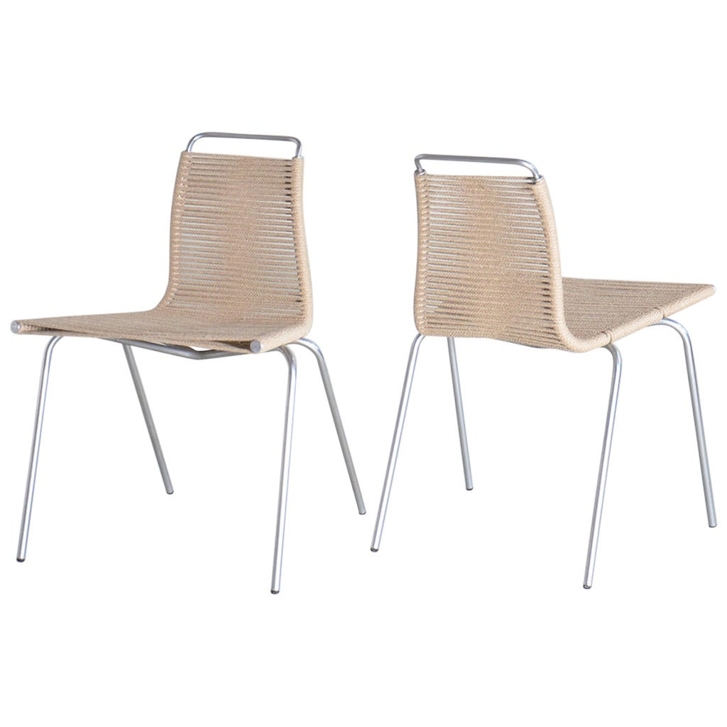 Pk 3 Dining Chairs By Poul Kj Rholm At 1stdibs