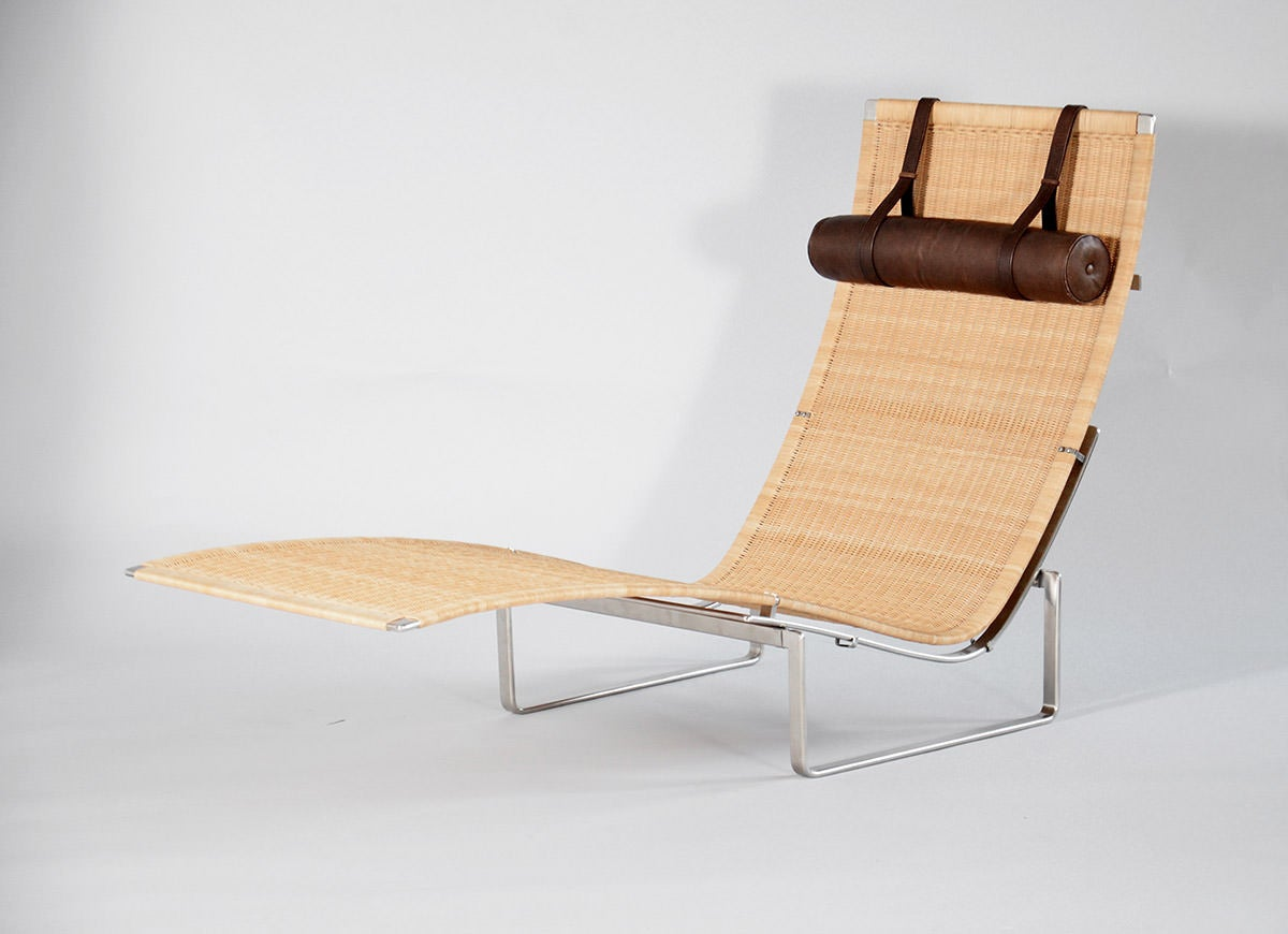 Pk 24 chaise longue by poul kj rholm for sale at 1stdibs for Chaise longue for sale
