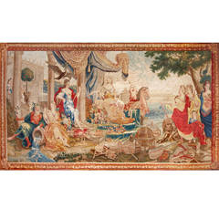 Europe, Flemish Allegorical Tapestry of the End of 17th-Early 18th Century