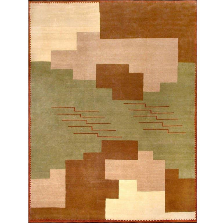 Brown Geometric Rug by Boccara