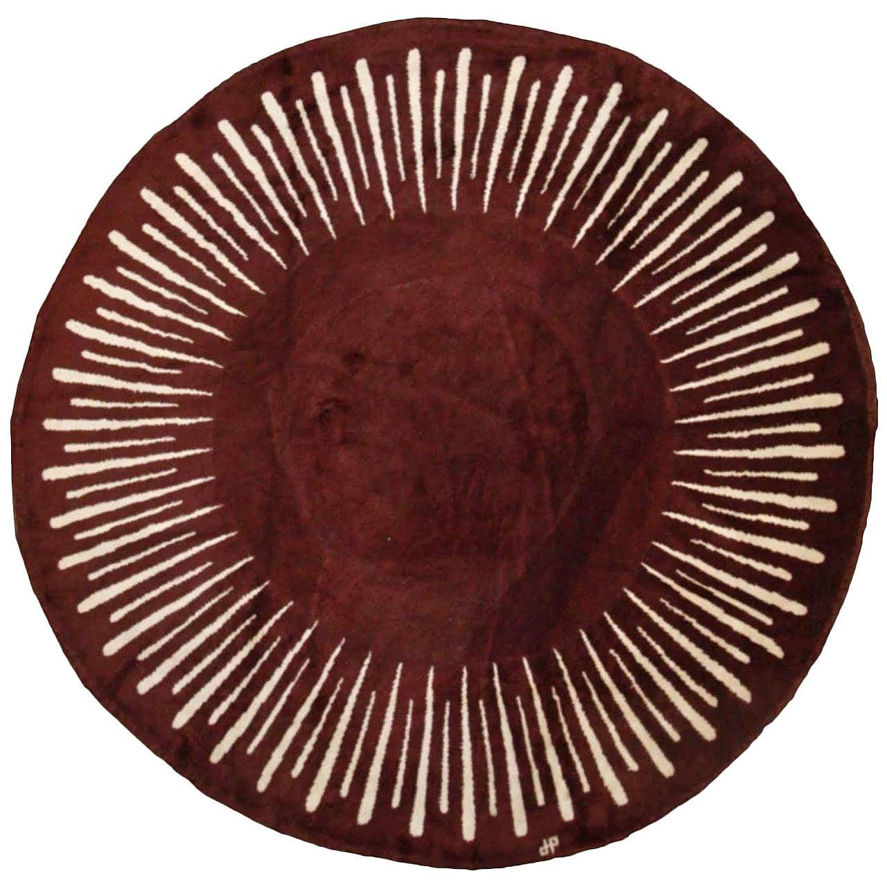 Jean Pascaud Original Circular Rug, circa 1940
