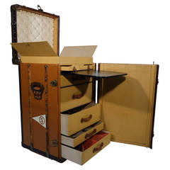 1910's  Louis Vuitton Travel Secretary Trunk / Malle secretaire a linge Vuitton