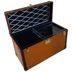 1920s Louis Vuitton Orange Champagne Trunk / Malle Champagne