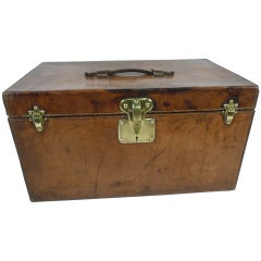 Louis Vuitton Small Leather Trunk, 1900s