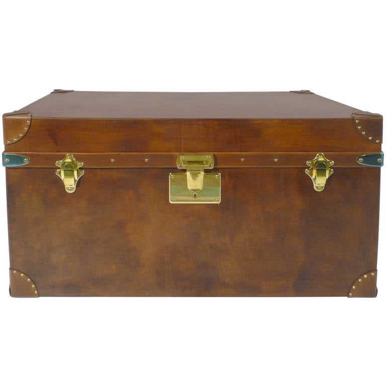 Edwardian (1901-1910) 100% Quality Old Steamer Trunk