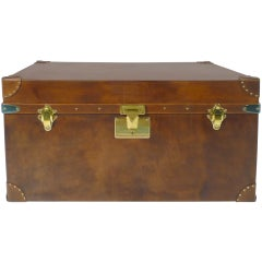 Leather Steamer Trunk 20th Century