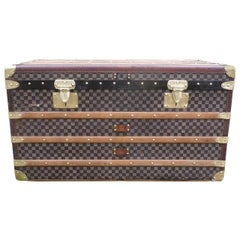 1930s Moynat Courrier Trunk Damier, Malle Moynat Courrier Damier