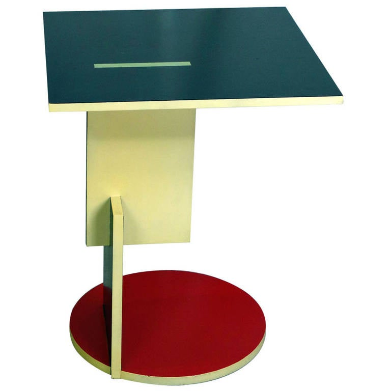 Schroeder Table by Gerrit Rietveld at 1stdibs