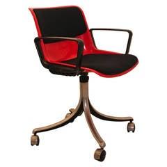 Red Desk Chair by Osvaldo Borsani, Italy, 1970s
