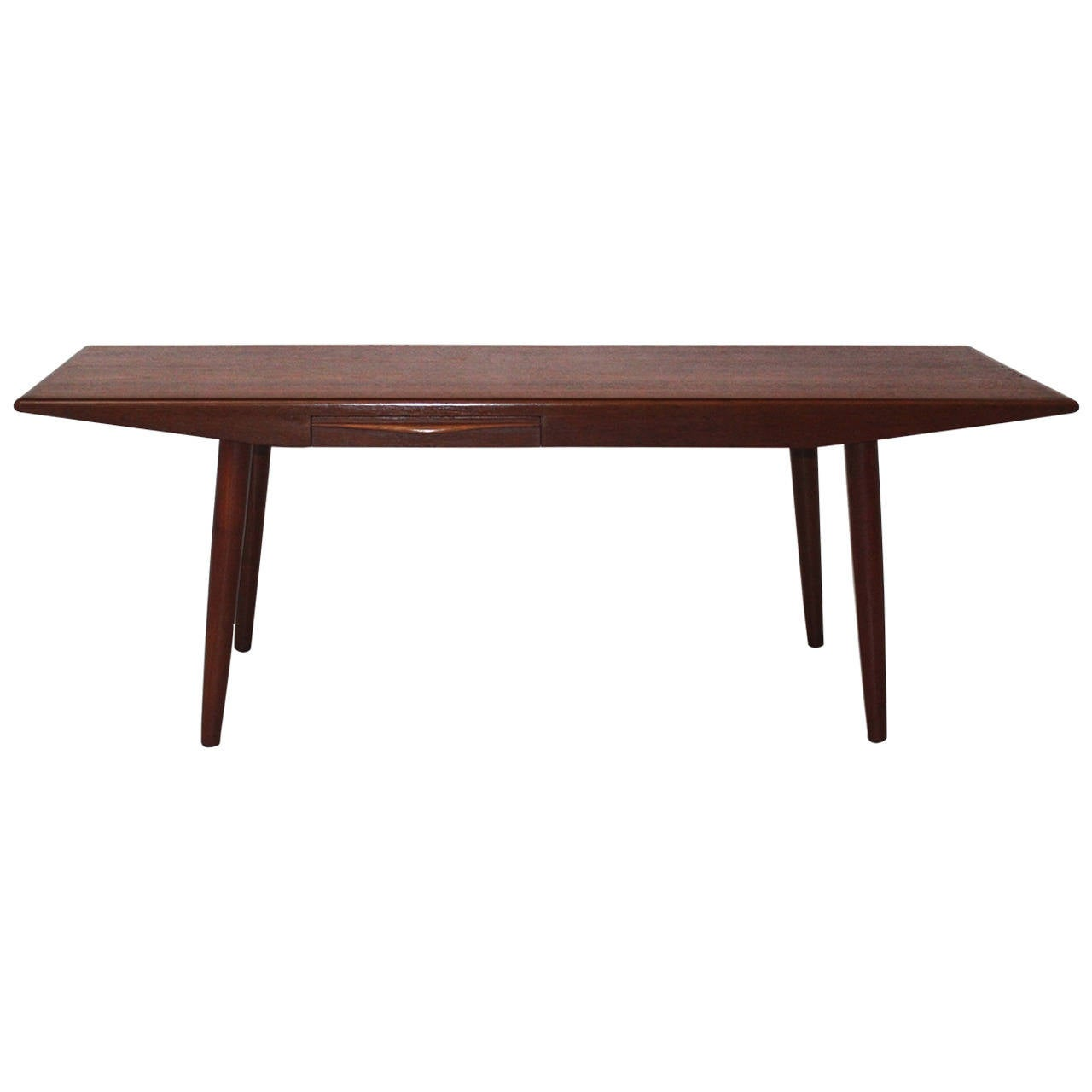 Danish modern teak coffee table by johannes andersen 1960s denmark for sale at 1stdibs Modern teak coffee table